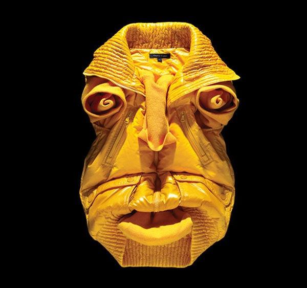 Лица из мятой одежды от Бела Борсоди (Bela Borsodi)