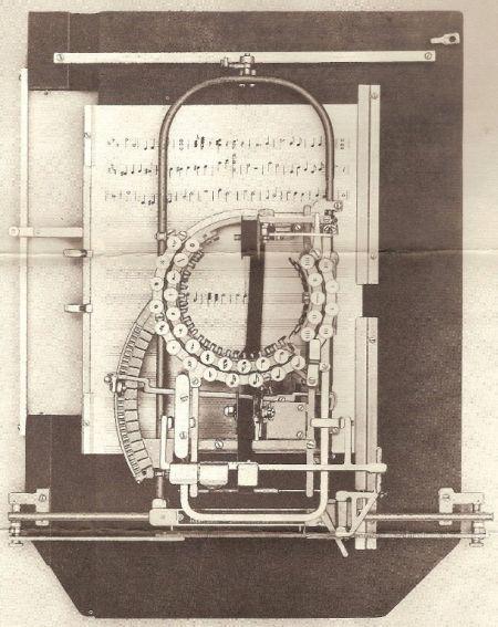 Нотная печатающая машинка Китона (1936 год)