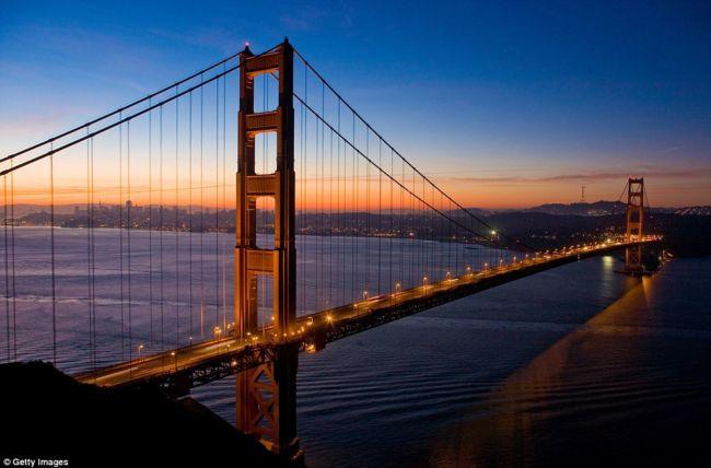 Строительство моста Золотые Ворота в Сан-Франциско (1937 г.)