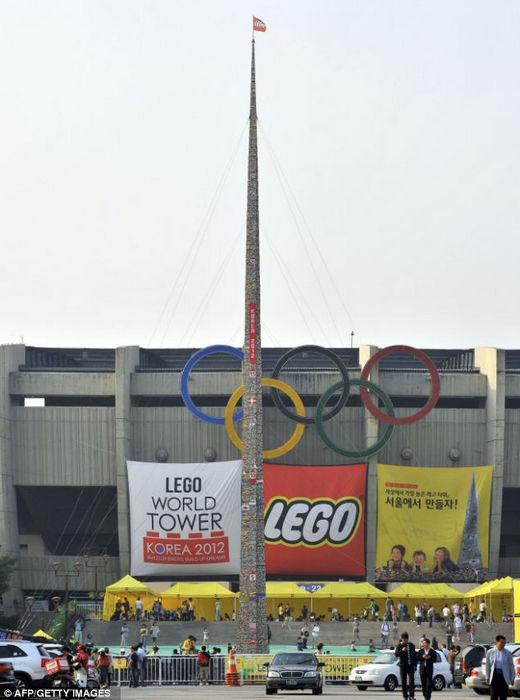 Самая высокая Лего-башня (Южная Корея)