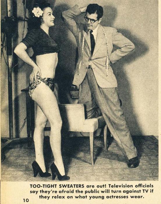 Табу на телевидении в 1949 году