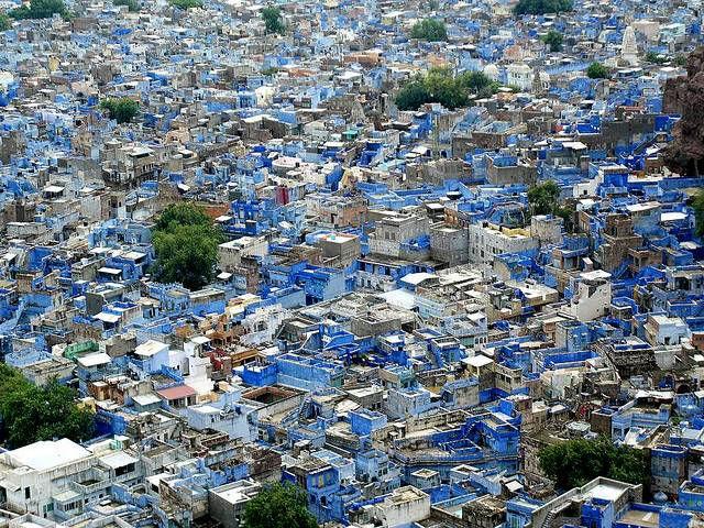 Синий город Джодхпур (Индия)