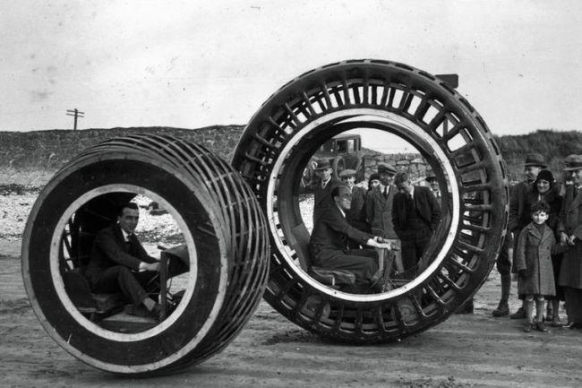 Динасфера: одноколесный автомобиль прошлого (1930 г.)
