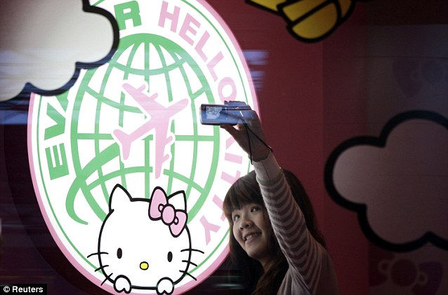 Eva Air и самолеты в стиле Hello Kitty (Тайвань)