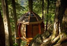 Самодельный круглый дом на дереве (Канада)