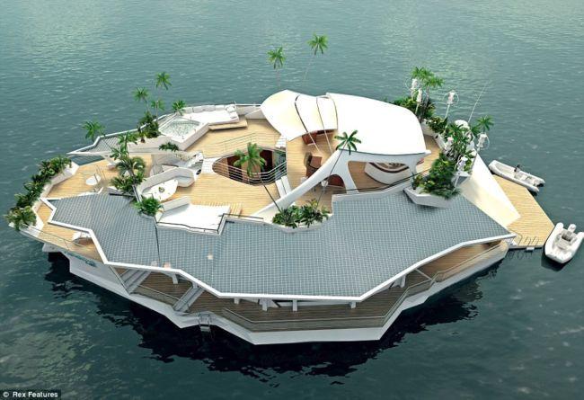Osros: плавучий остров-отель (Австрия)