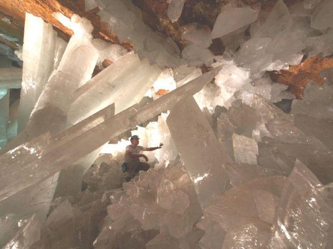 Пещера гигантских кристаллов в Найке (Мексика)
