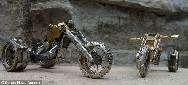 Мотоциклы из деталей часов от Дэна Таненбаума (Dan Tanenbaum)