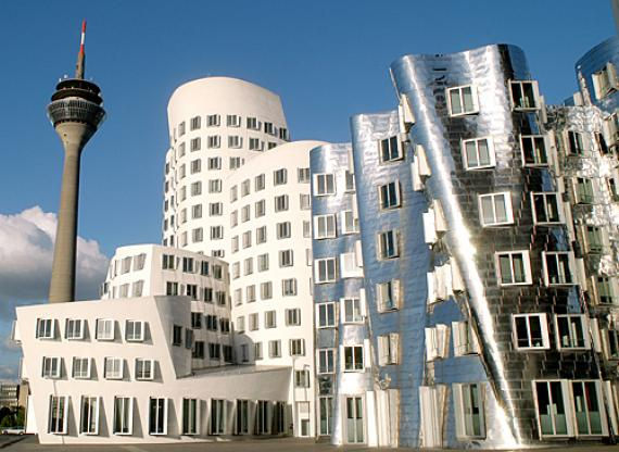 Der Neue Zollhof: необычный дом в Дюссельдорфе (Германия)