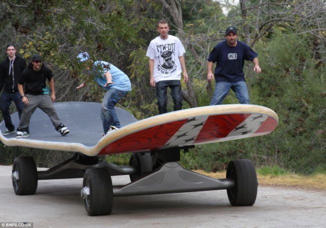 Самый большой скейтборд в мире (США)