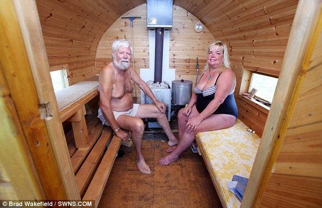 Мобильная финская баня в английской провинции (Англия)