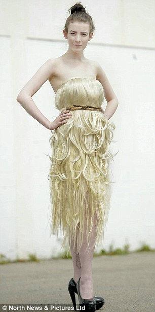 Платье из волос для Мисс Англия