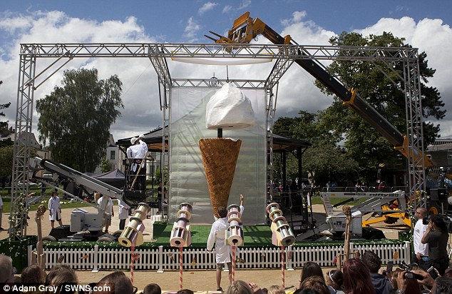Самое большое мороженое в мире (Англия)