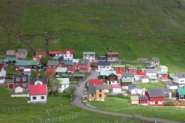 Красочные и живописные деревни Фарерских островов