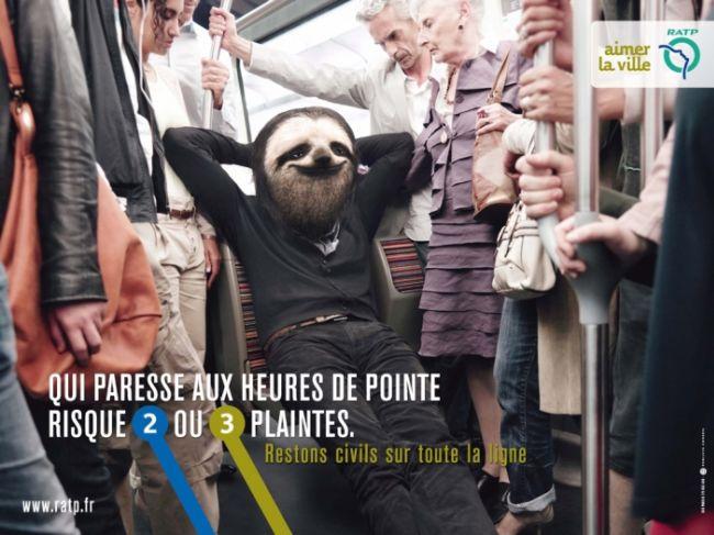 «Некультурные французы»: социальная реклама в парижском метро (Франция)
