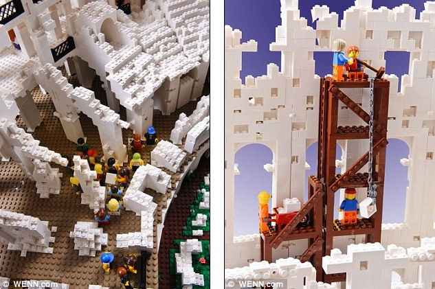 Римский Колизей из Lego от Райана Макнота (Ryan McNaught)
