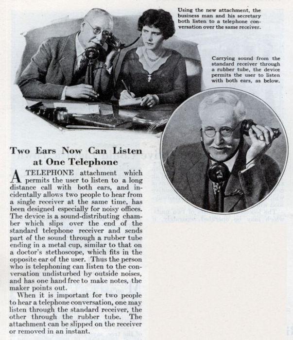 Необычные телефонные изобретения ХХ века