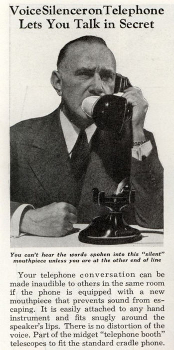 Телефонный глушитель голоса (февраль, 1941).