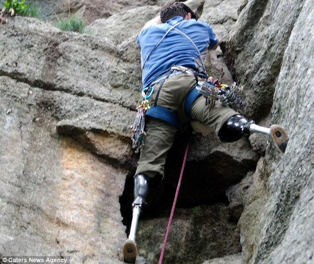 Хью Герр: альпинист без ног (Америка)
