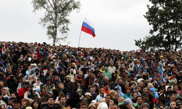 Реконструкция Бородинской битвы 2012 в Подмосковье (Россия)