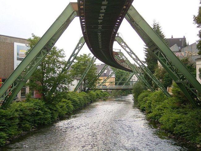 Вуппертальский плавающий трамвай (Германия)