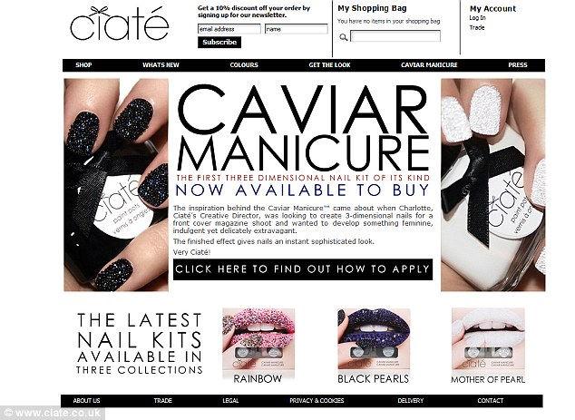 Caviar Manicure: маникюр с икрой (Англия)