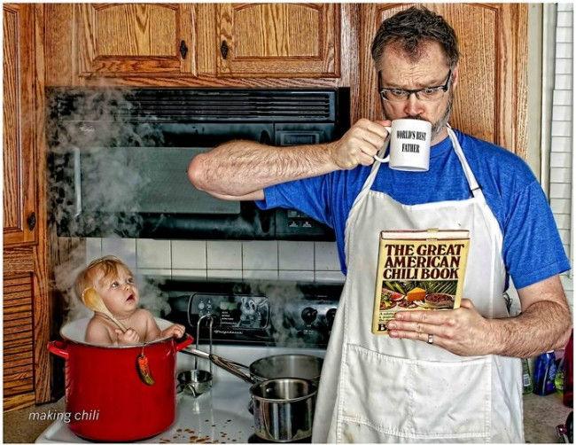 Серия фото «Самый лучший папа» от Дейва Энглдау