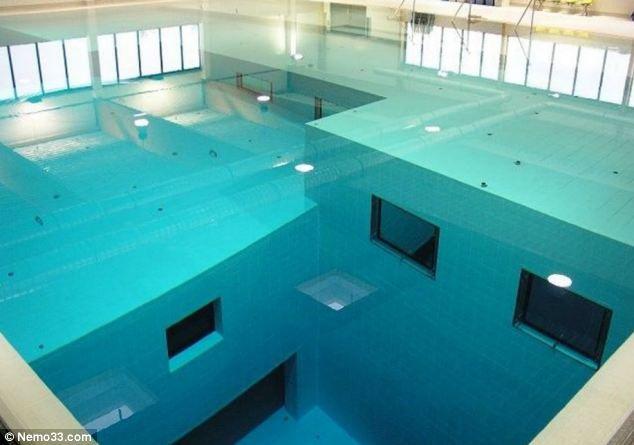 Nemo 33: самый глубокий бассейн в мире (Бельгия)