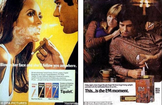 Рекламные плакаты сигарет ХХ-го века (США)