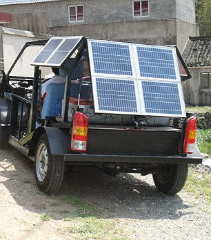 Электромобиль на солнечных батареях (Китай)