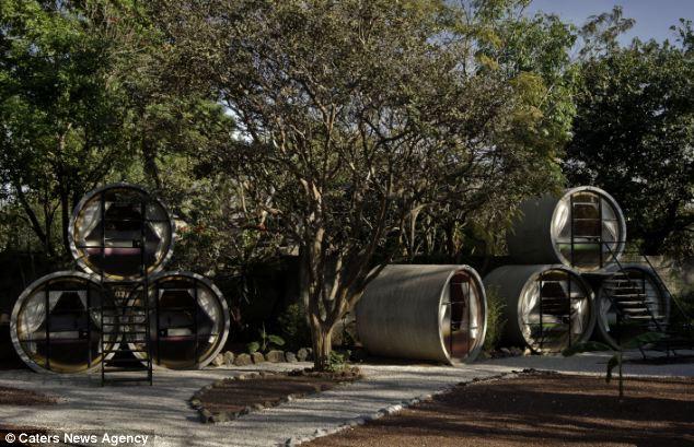 Tubohotel: отель в канализационных трубах (Мексика)