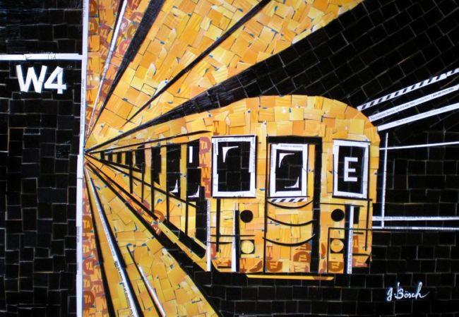 Картины из карточек метро от Нины Бёх