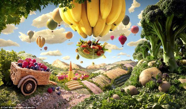 Вкусные пейзажи от Карла Уорнера