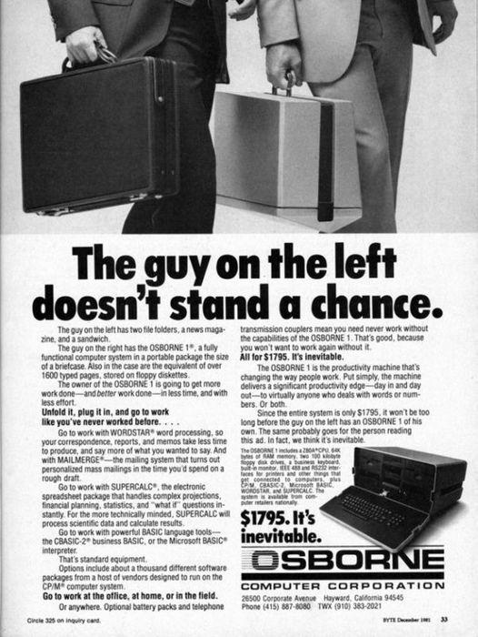 Osborne 1: первый ноутбук в мире