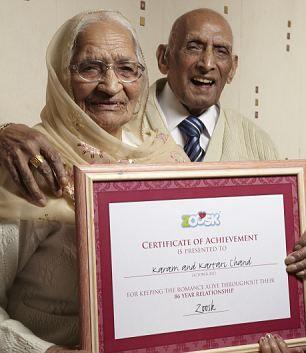 Супруги Карам и Катари Чанд: 87 лет вместе (Индия)