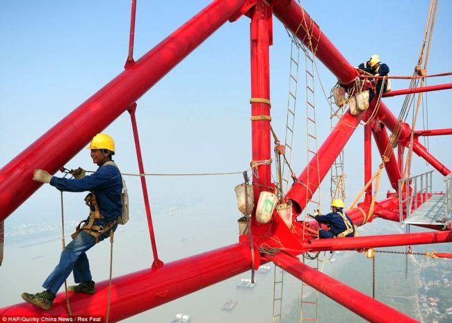 Самые высокие пилоны высоковольтной линии (Китай)
