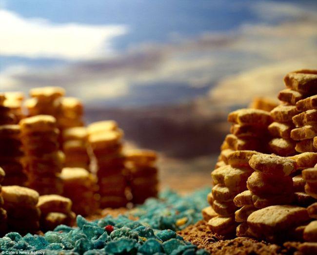 Cerealism: пейзажи из сухих завтраков от Эрни Батона