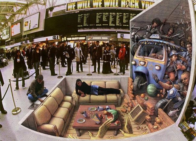 Уличная живопись Курта Веннера (Kurt Wenner)