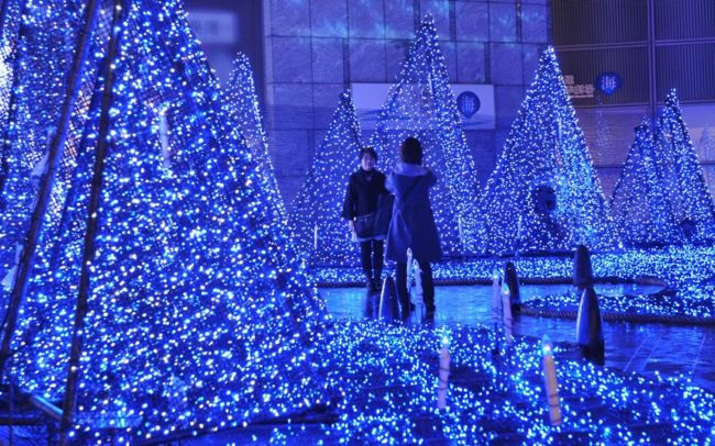 Рождественские елки и огни в городах мира