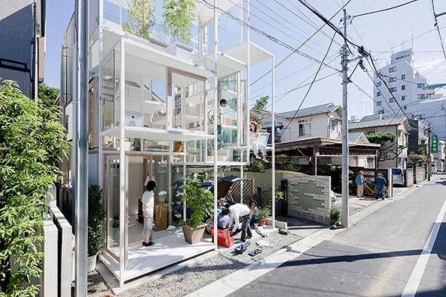 Прозрачный дом в Токио (Япония)