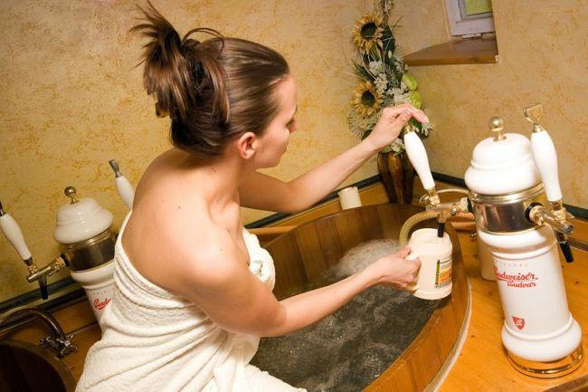 Пивные ванны отеля Bahenec (Чехия)