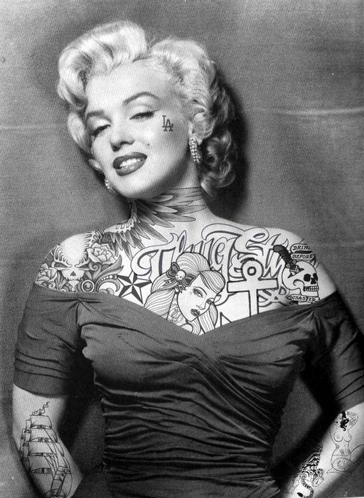 Фотосерия Джейсона Хилла Если бы голливудские звезды имели татуировки
