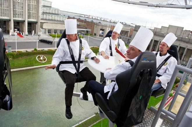 Ресторан Dinner in the Sky: обед в небе (Бельгия)