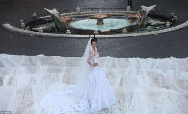 Джанни Моларо: 3 километра шлейфа свадебного платья