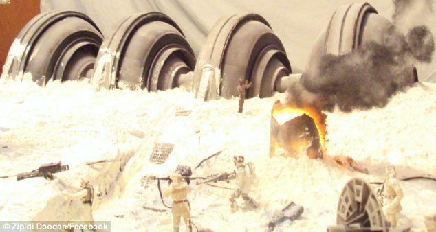 Сцена из фильма «Звездные войны» в квартире (США)