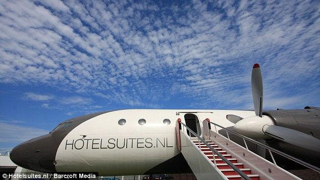 Роскошный отель из роскошного самолета (Нидерланды)