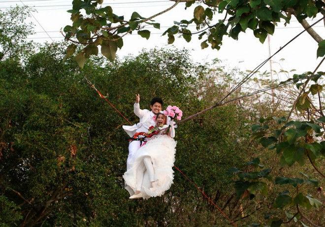 Экстремальные свадьбы в Таиланде