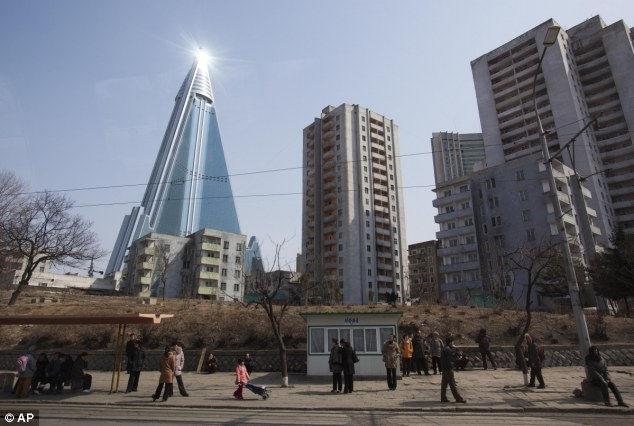 Отель Pyongyang's Ryugyong: 26-летний долгострой (Корея)