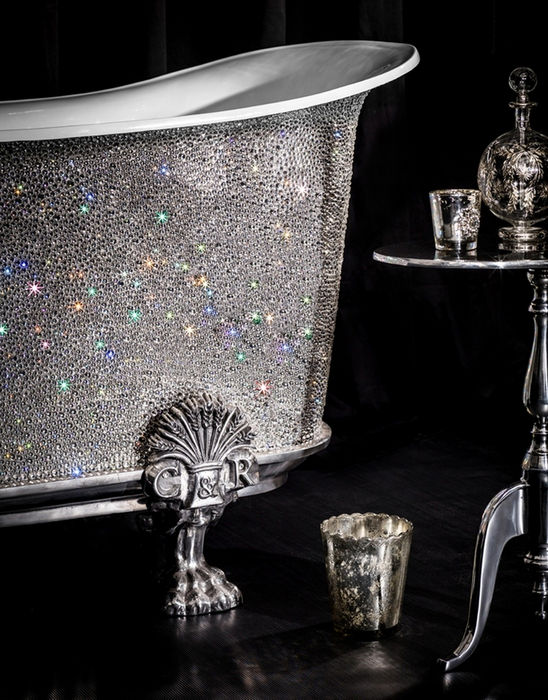 Swarovski-covered bathtub will clean you out
