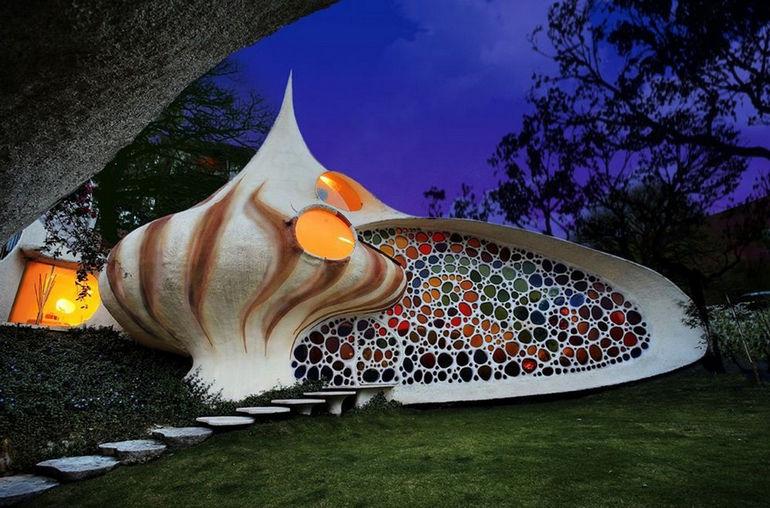 La Casa Nautilus: дом в стиле био-тек (Мексика)